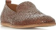Tan bayron Woven Slipper Loafers