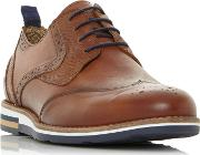 Tan blackheath Wedge Sole Brogue Shoes