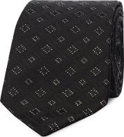 Black Diamond Embroidered Tie