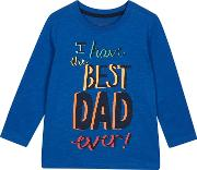 Bluezoo Boys Blue best Dad Ever Print Top