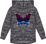 Bluezoo girls Navy Sequinned Butterfly Sweater