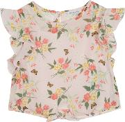 Bluezoo Girls Pink Floral Print Blouse