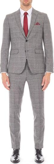 3 Piece Grey prince Of Wales Suit