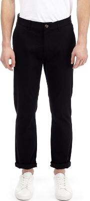 Black Blake Slim Fit Stretch Chinos