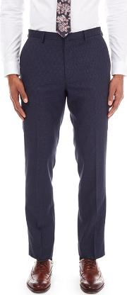 Blue Puppy Tooth Slim Fit Trousers