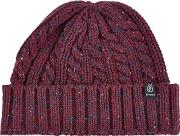 Burgundy Nepp Cable Beanie Hat