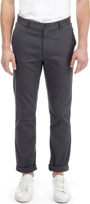 Charcoal Tyler Skinny Fit Stretch Chinos