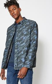 For Malmo Green Print Coach Jacket