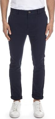 Navy Super Skinny Fit Stretch Chinos