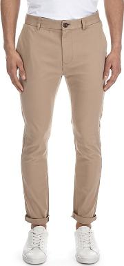 Stone Super Skinny Fit Stretch Chinos