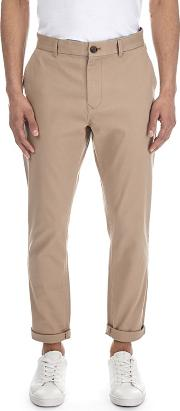 Stone Tapered Fit Stretch Chinos