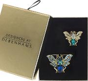 Crystal Butterfly Brooch Set In A Gift Box