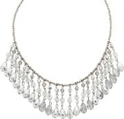 Mw By Matthew Williamson Designer Blue And Grey Beaded Drop Necklace