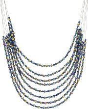 Mw By Matthew Williamson Multi Colour Beaded Necklace
