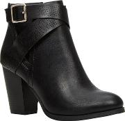 Ladies Cut Out Boot With Perfed Strap