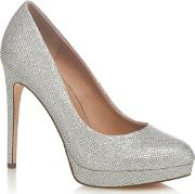 Silver kedirien High Stiletto Heel Court Shoes