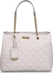 Cream blair Quilted Shopper Quilted Tote Bag