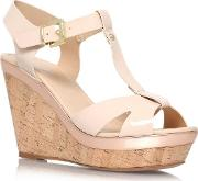 Nude kabby High Heel Wedge Sandals