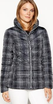The Collection Black Check Padded Jacket