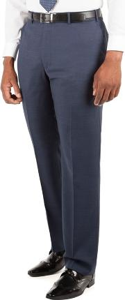 Big & Tall Blue Tonal Check Big And Tall Suit Trousers