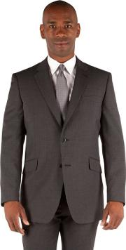Big & Tall Grey With Lilac Stripe 2 Button Front Big And Tall Regular Fit Washable Suit Jacket