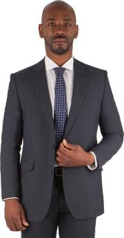 Big & Tall Navy Puppytooth Big And Tall 2 Button Regular Fit Suit Jacket
