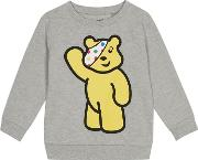 Bbc  Kids Grey pudsey Character Print Sweater