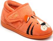 Boys Orange Tommy The Tiger Slipper