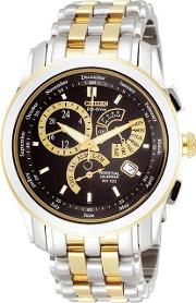 Mens Round Dial With Two Tone Bracelet Watch Bl8004 53e