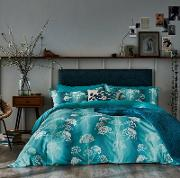 Blue Cotton 300 Thread Count angeliki Duvet Cover
