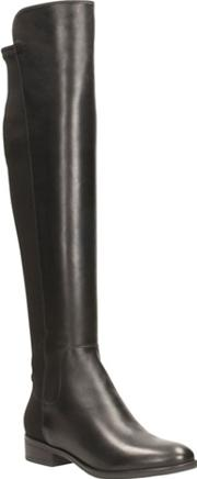 Clarks Black Leather caddy Belle Knee High Boots