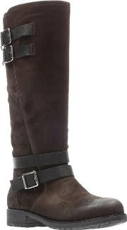 Clarks Brown Suede adelia Dusk Knee High Boots
