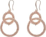 Rose Gold willow Statement Sparkle Earrings
