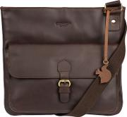 Brown sudbury Handcrafted Leather Across Body Bag