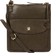 fba2666a98 Olive lauryn Handcrafted Leather Cross Body Bag. conkca london