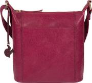 Orchid yasmin Leather Cross Body Bag