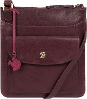 Plum lauryn Handcrafted Leather Cross Body Bag