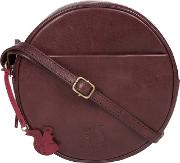 Plum rolla Handcrafted Leather Cross Body Bag