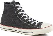 Black Canvas chuck Taylor All Star Hi Top Trainers
