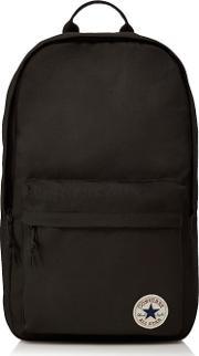 Black Logo Detail Backpack