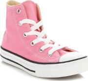 Girls Pink all Star Hi Top Trainers
