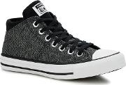 Near Black ctas Madison Hi Top Trainers
