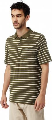 Dark Moss Combo Fraser Short Sleeved Polo