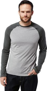 Grey loki Long Sleeved Two Tone T Shirt