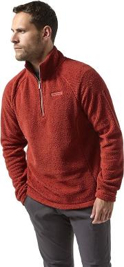Red barston Half Zip Fleece