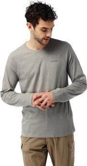 Soft Grey Marl Nosilife Bayame Long Sleeved T Shirt