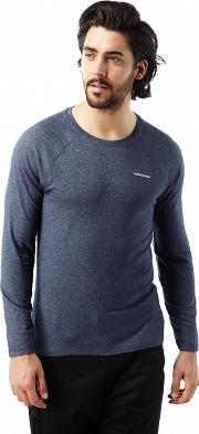 Soft Navy Marl Nosilife Bayame Long Sleeved Tee