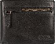 Black area Fine Cowhide Rfid Wallet