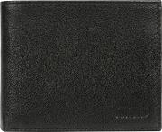 Black niall Leather Tri Fold Wallet