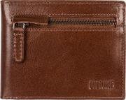 Brown area Fine Cowhide Rfid Wallet